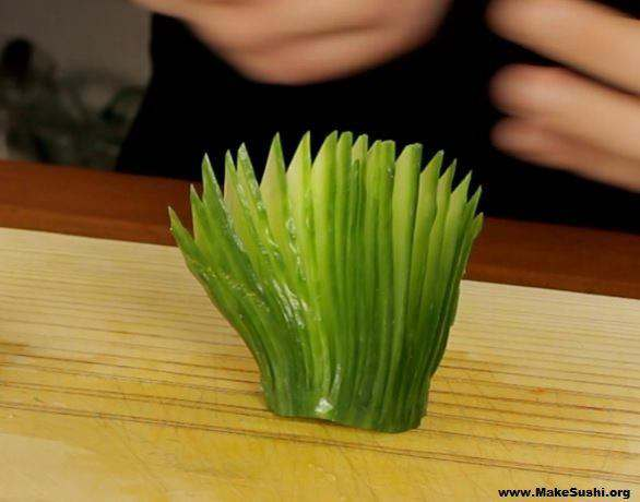 How to make butterfly cucumber fans | Make Sushi