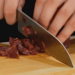cutting-sushi-grade-tuna-for-spicy-tuna-mix