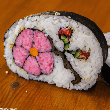 Flower Sushi Roll Art Recipe