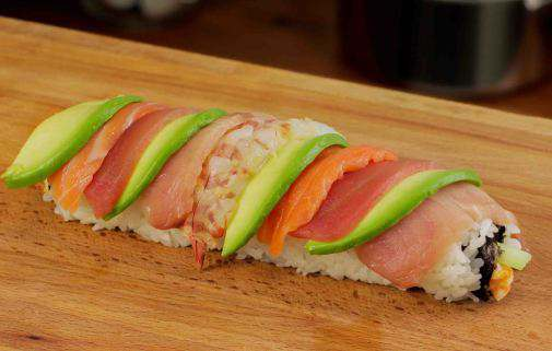 Rainbow Sushi Roll Recipe