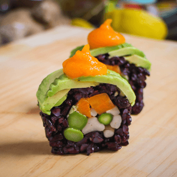 Vegan sushi roll recipe