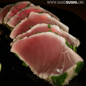 Make Tuna Sashimi Seared in Coriander