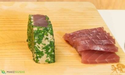coriander seared tuna sashimi