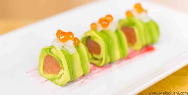 alaskan avocado salmon roll