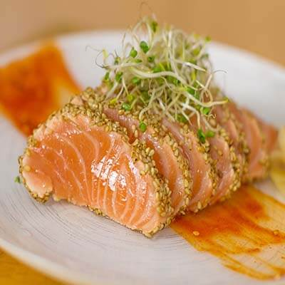 Seared Salmon Sashimi